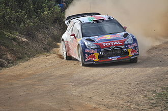 Rally de Portugal - Sébastien Loeb with a Citroën DS3 WRC at the 2011 Rally de Portugal