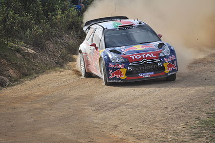 Sebastien Loeb at the 2011 Rally de Portugal with Citroen DS3 WRC. Loeb 2011 WRC Portugal.jpg