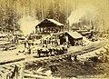 Logging operation showing a sawmill, Washington, ca 1889 (BOYD+BRAAS 72).jpg