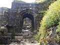 Lohagadh Fort,Pune main door.JPG