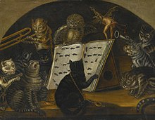 Lombard School c1700 Cats being instructed In the art of mouse-catching by an owl.jpg