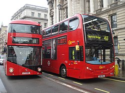 London General buses LT60 (LTZ 1060) & E176 (SN61 BHJ, route 11, 13 October 2013.jpg
