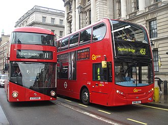 London General - Image: London General buses LT60 (LTZ 1060) & E176 (SN61 BHJ, route 11, 13 October 2013