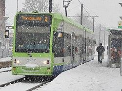 London trams in snow c2010.JPG