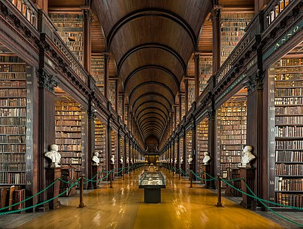 The longroom at the Trinity College Library Long Room Interior, Trinity College Dublin, Ireland - Diliff.jpg