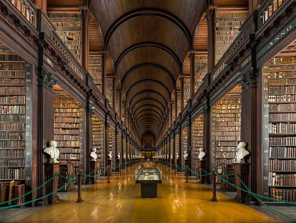 Long Room Interior, Trinity College Dublin, Ireland - Diliff