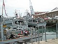 "Looking across rear of HMS Hurworth at the 2008 ""Meet the Navy"" event within Portsmouth Dockyard - geograph.org.uk - 901811.jpg"