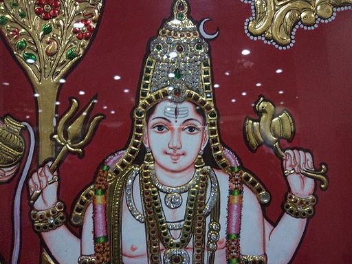 Lord Siva in a painting