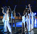 Loreen and her dancers at Art on Ice 2014-4.jpg