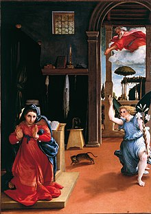 Annunciazione, 1528, Recanati, Museo civico Villa Coloredo Mels
