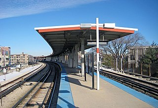"Loyola station Chicago ""L"" station"