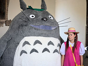 Totoro and Mei cosplayers at Lucca Comics & Games in 2013.
