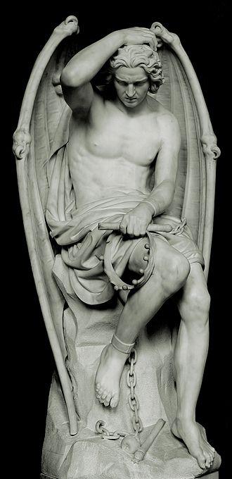 Guillaume Geefs - Le génie du mal (1848)