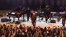 Einaudi in un concerto a Mosca, 12 settembre 2014