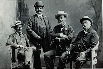 Christian Social Party (Austria) - Lueger (2nd from right) and CS party fellows, about 1905