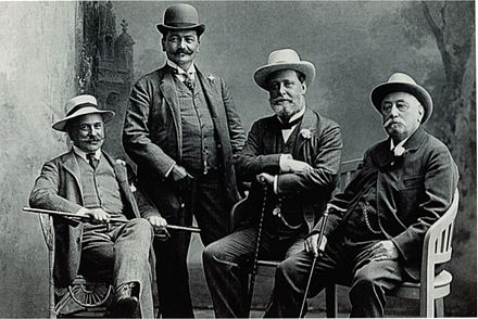 Lueger (2nd from right) and CS party fellows, about 1905