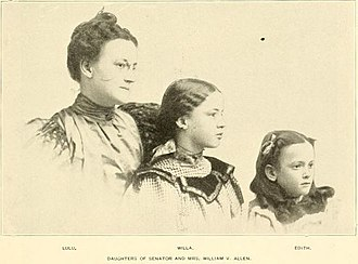 William V. Allen - Lulu, Willa and Edith Allen