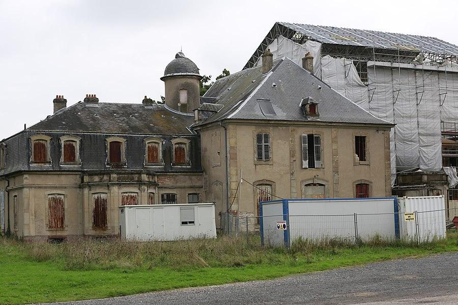 Le Château de la Favorite à Lunéville en cours de restauration, octobre 2013.