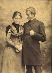 Luplau and Marie Janssen 1892 by Adolph Lønborg.jpg
