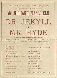 <i>Dr. Jekyll and Mr. Hyde</i> (1887 play) 1887 stage play