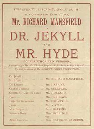 Dr. Jekyll and Mr. Hyde (1887 play) - Playbill for 1888 London production