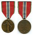 Médaille des Prisonniers civils, Déportés et Otages de la grande Guerre France tweemaal.jpg