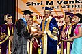 M. Venkaiah Naidu presenting the medals and degrees to the Students, at the 8th Convocation of the Postgraduate Institute of Medical Education and Research, Dr. Ram Manohar Lohia Hospital, in New Delhi (1).JPG