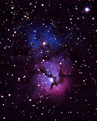 Cherry Springs State Park - The Trifid Nebula (M20) in Sagittarius, as seen from the park