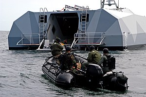 M80 Stiletto - Rear view of M80 Stiletto during a training of the Navy SEALs, 2006.