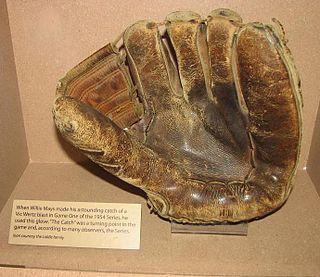 Baseball glove large leather glove worn by baseball players