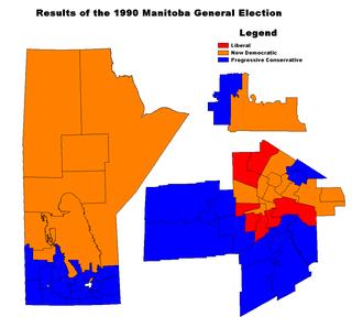 Manitoba general election, 1990 - Image: MB1990