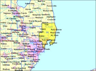David Bonior - Bonior's Congressional District from 1993 to 2003