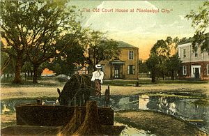 Mississippi City, Mississippi - Courthouse at Mississippi City, circa 1900.