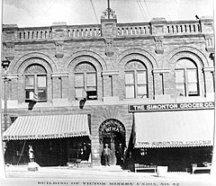 Western Federation of Miners union hall in 1903