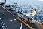 MV-22 Ospreys prepare for takeoff. (8488249771).jpg