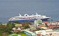 MV Explorer docked in Dominica, Semester at Sea Ship.jpg