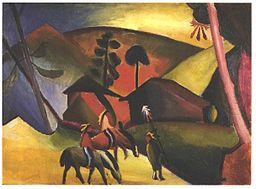 Macke - Indianie na koniach, 1911