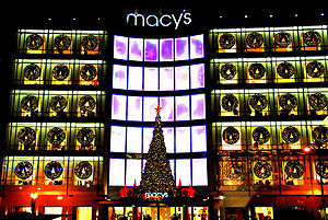 Macy's store during 2006 Christimas in San Fra...