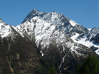 Watzespitze - Watzespitze as seen from the west from the Glockturm ridge