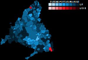 Madrid (Congress of Deputies constituency) - Image: Madrid Municipal Map Congress 2011