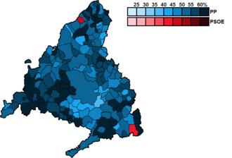 Madrid (Congress of Deputies constituency) - Image: Madrid Municipal Map Congress 2011