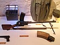 Madsen machine gun with magazine