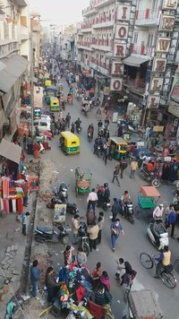 Fail:Main Bazar from Krishna Café, Delhi.webm