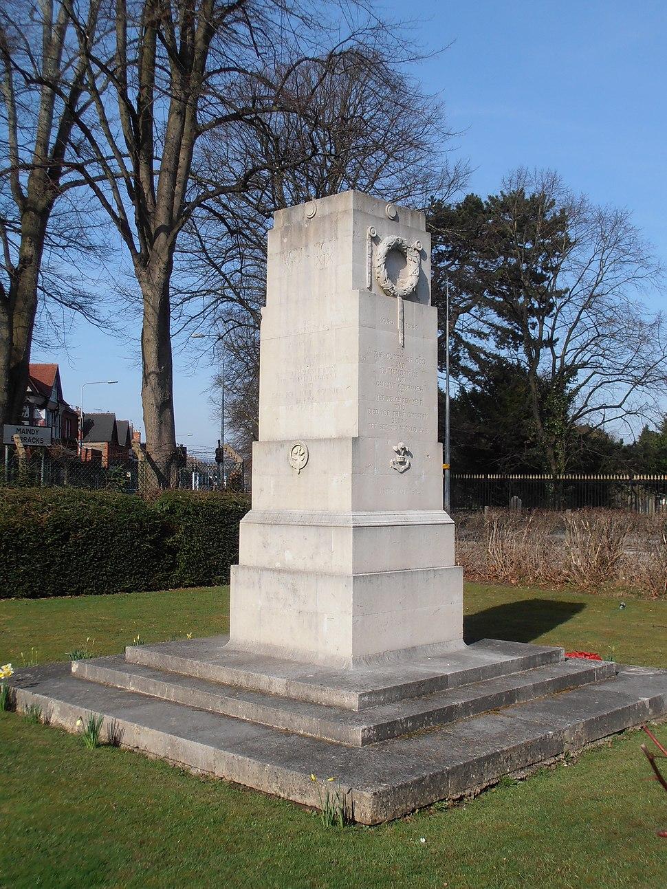 Maindy Barracks Cenotaph