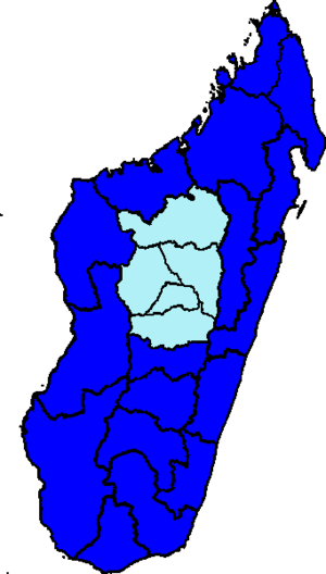 Malagasy general election, 2013 - Image: Malagasy presidential election map 2013
