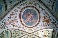 Décoration murale sur un plafond