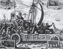 """Engraving of a """"Mallewagen"""""""
