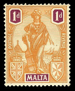 Melita issue Maltese postage stamp series