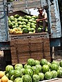 Man Selling Watermelons out of Back of Truck - Andijon - Uzbekistan (7543517844).jpg