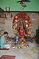 Manasa Idol with Pujari - Manasa Mandir - Sitaram Shaw Establishment - Diamond Harbour Road - Kidderpore - Kolkata 2015-12-13 8026.JPG